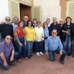 Una fazzolettata di amici, soci del CVS, a Cambuca a casa di Sergio e Anna Vizzini il 25 aprile 2019