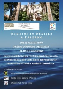 Bambini in Braille a Palermo 2019