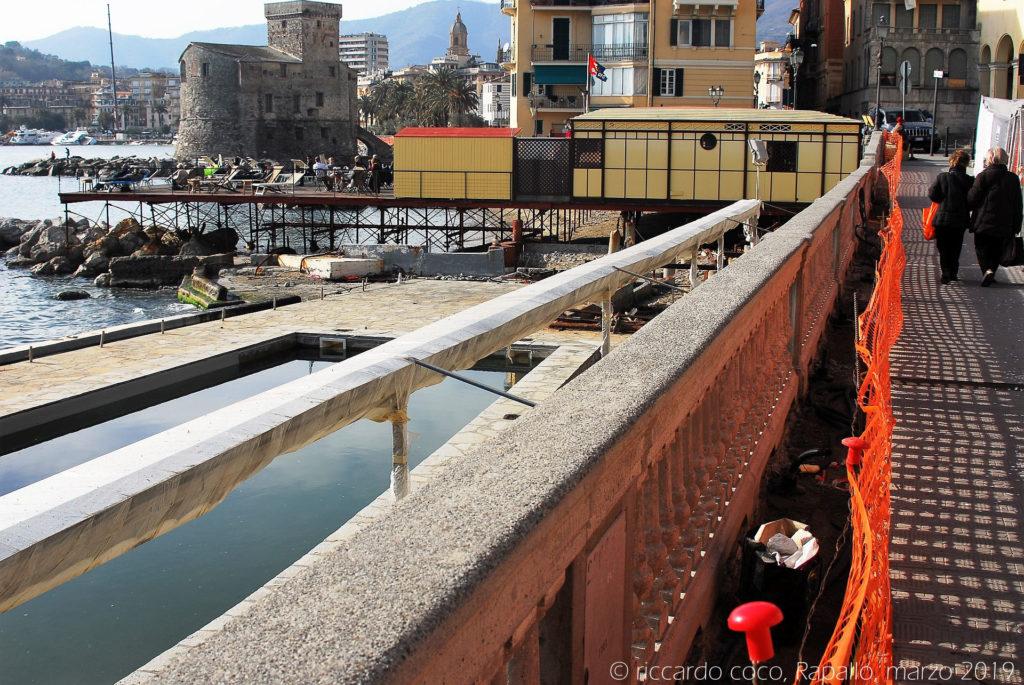 I danni sul lungomare di Rapallo