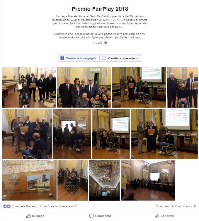 Prestigioso riconoscimento per la Lega Navale Italiana – Sezione Palermo Centro