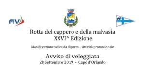 Rotta del cappero e della malvasia XXVI^ Edizione 2019
