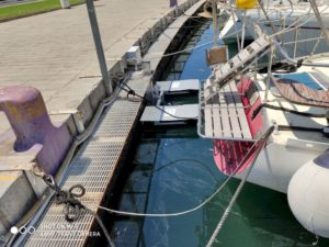 Seabin LifeGate alla Cala, banchina del CVS, 2019
